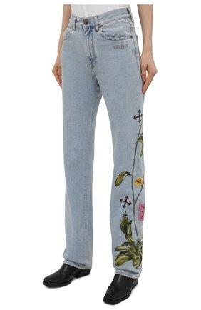 Женские джинсы OFF-WHITE голубого цвета, арт. 0WYA020S21DEN003 | Фото 3
