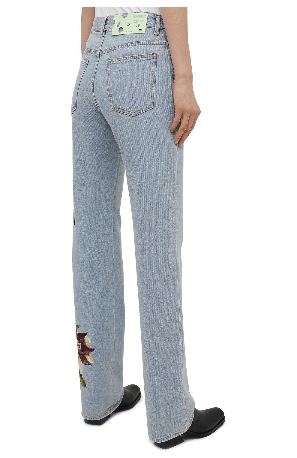 Женские джинсы OFF-WHITE голубого цвета, арт. 0WYA020S21DEN003 | Фото 4