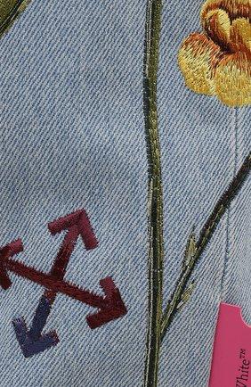 Женские джинсы OFF-WHITE голубого цвета, арт. 0WYA020S21DEN003 | Фото 5