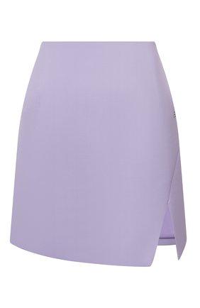 Женская юбка OFF-WHITE сиреневого цвета, арт. 0WCC117S21FAB002 | Фото 1
