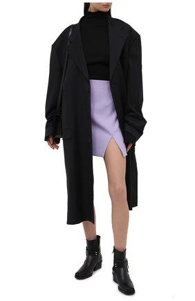 Женская юбка OFF-WHITE сиреневого цвета, арт. 0WCC117S21FAB002 | Фото 2