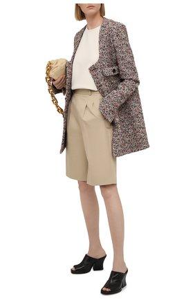 Женские кожаные мюли stack BOTTEGA VENETA черного цвета, арт. 660799/VBP40 | Фото 2 (Подошва: Платформа; Каблук высота: Высокий; Материал внутренний: Натуральная кожа; Каблук тип: Устойчивый)
