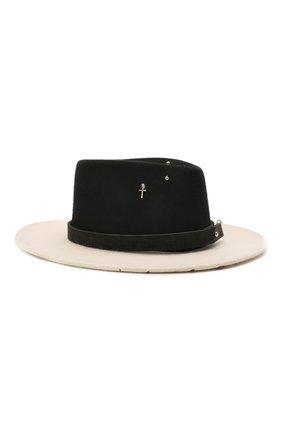 Женская шляпа drop galaxy cross COCOSHNICK HEADDRESS черно-белого цвета, арт. drops-gc1 | Фото 1