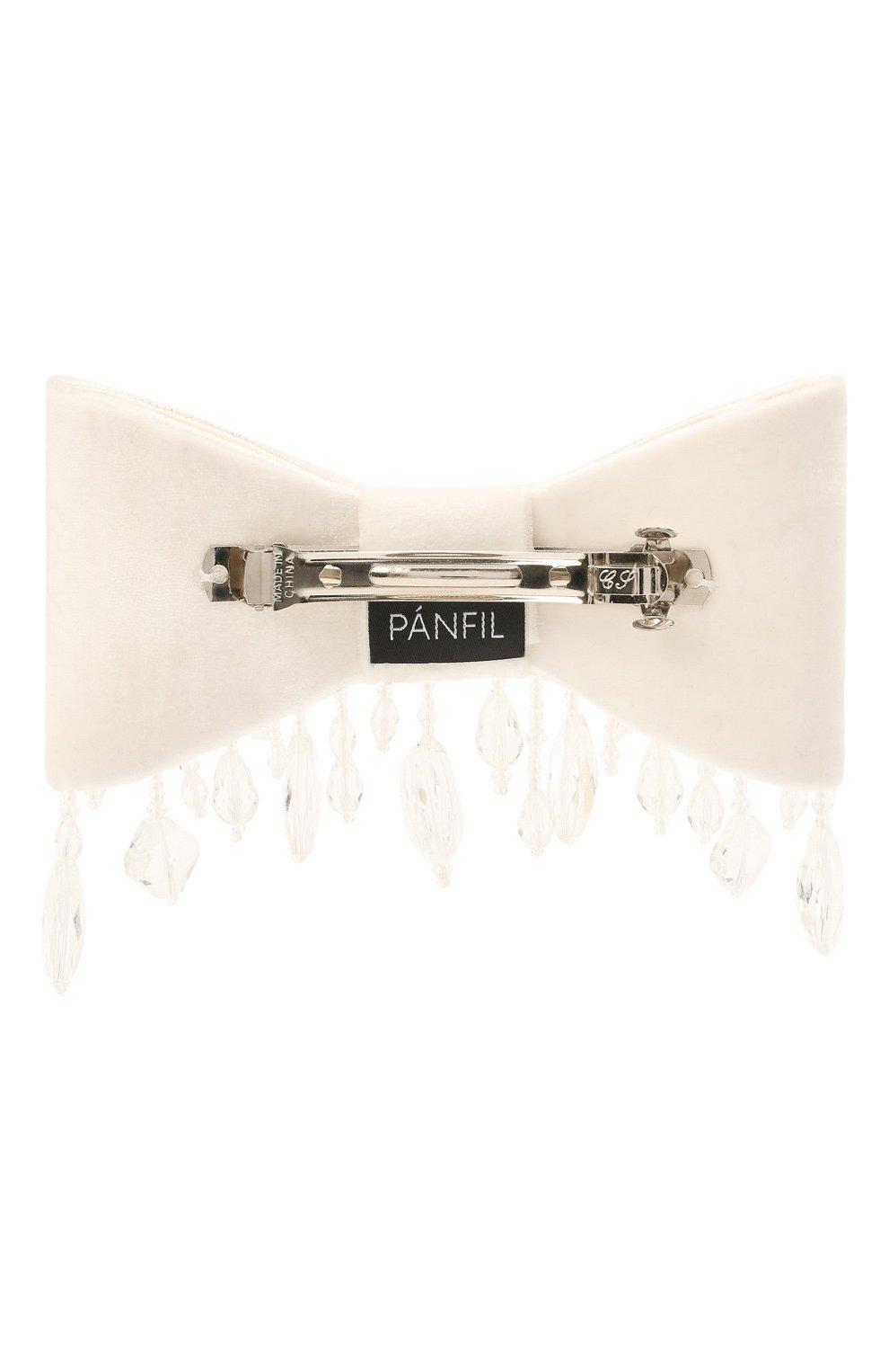 Женская бант PANFIL кремвого цвета, арт. Бант 1-V8-Ch | Фото 2 (Материал: Текстиль, Шелк)