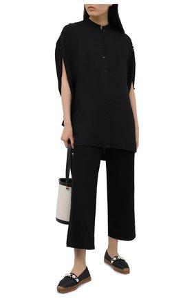 Женские комбинированные эспадрильи dru JIMMY CHOO черного цвета, арт. DRU FLAT/ABG | Фото 2 (Подошва: Платформа; Материал внешний: Текстиль; Материал внутренний: Натуральная кожа)