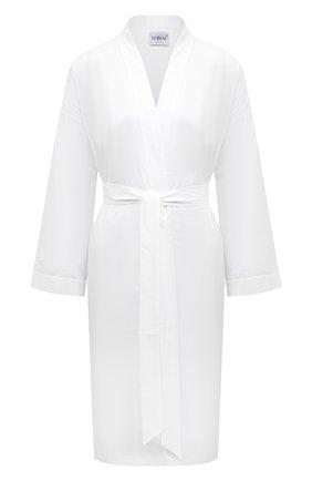 Женский хлопковый халат CELESTINE белого цвета, арт. 70000731/L0LITA R0BE | Фото 1