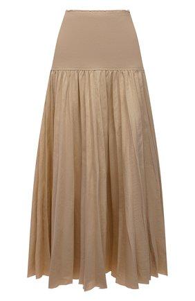 Женская юбка из льна и хлопка JOSEPH коричневого цвета, арт. JP001131 | Фото 1
