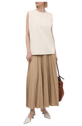 Женская юбка из льна и хлопка JOSEPH коричневого цвета, арт. JP001131 | Фото 2