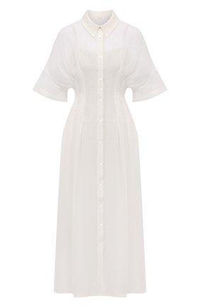 Женское льняное платье TELA белого цвета, арт. 01 0015 01 0172 | Фото 1