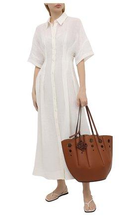 Женское льняное платье TELA белого цвета, арт. 01 0015 01 0172 | Фото 2