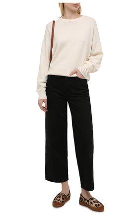 Женские текстильные эспадрильи DOLCE & GABBANA леопардового цвета, арт. CE0110/A0516 | Фото 2 (Подошва: Платформа; Материал внешний: Текстиль; Материал внутренний: Натуральная кожа)