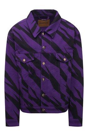 Женская джинсовая куртка ALEXANDRE VAUTHIER фиолетового цвета, арт. 212JA1457 1420P-212 | Фото 1