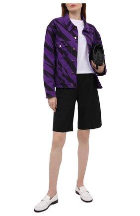 Женская джинсовая куртка ALEXANDRE VAUTHIER фиолетового цвета, арт. 212JA1457 1420P-212 | Фото 2