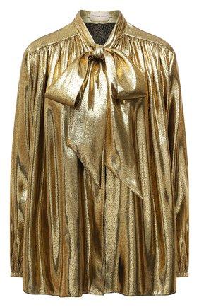 Женская шелковая блузка ALEXANDRE VAUTHIER золотого цвета, арт. 212SH1350 1467-212 | Фото 1