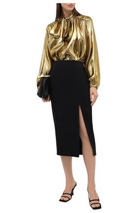 Женская шелковая блузка ALEXANDRE VAUTHIER золотого цвета, арт. 212SH1350 1467-212 | Фото 2