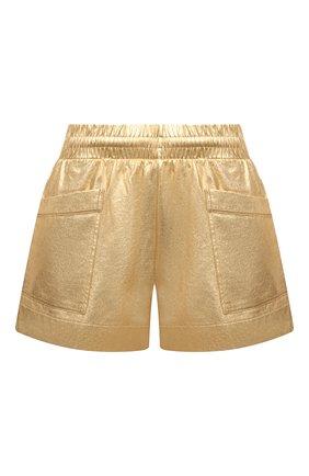 Женские хлопковые шорты DRIES VAN NOTEN золотого цвета, арт. 211-11120-2624 | Фото 1