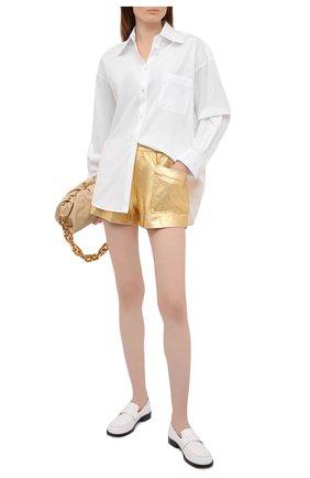 Женские хлопковые шорты DRIES VAN NOTEN золотого цвета, арт. 211-11120-2624 | Фото 2