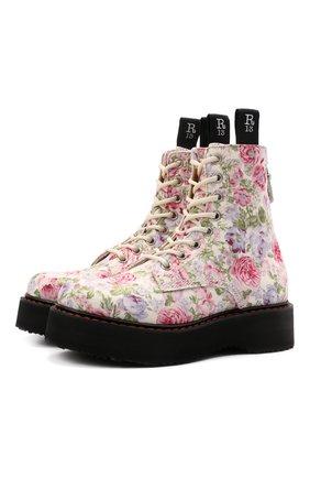 Женские текстильные ботинки R13 разноцветного цвета, арт. R13S0026-41   Фото 1
