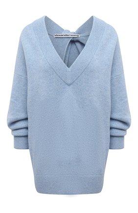 Женский свитер из шерсти и вискозы ALEXANDER WANG голубого цвета, арт. 1KC2213041 | Фото 1