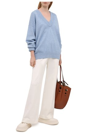 Женский свитер из шерсти и вискозы ALEXANDER WANG голубого цвета, арт. 1KC2213041 | Фото 2