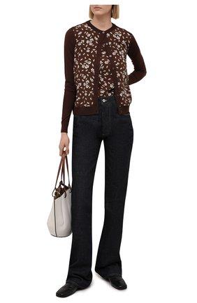 Женский шерстяной кардиган RALPH LAUREN коричневого цвета, арт. 290840745 | Фото 2