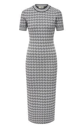 Женское платье FENDI черно-белого цвета, арт. FZD889 AF4U   Фото 1