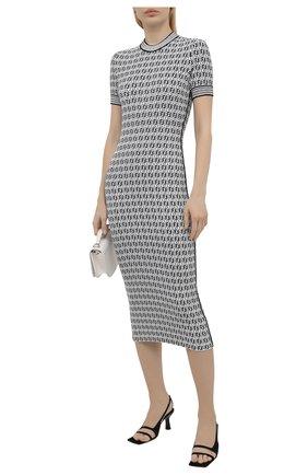 Женское платье FENDI черно-белого цвета, арт. FZD889 AF4U   Фото 2