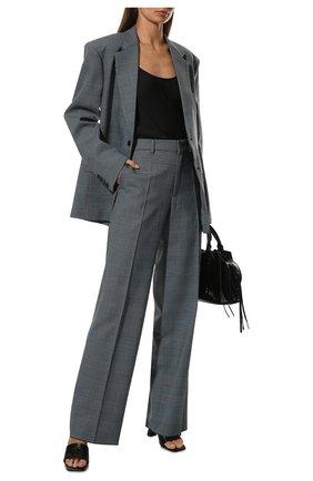 Женский шелковый топ GIORGIO ARMANI черного цвета, арт. 8CHCKZ18/TZ136 | Фото 2