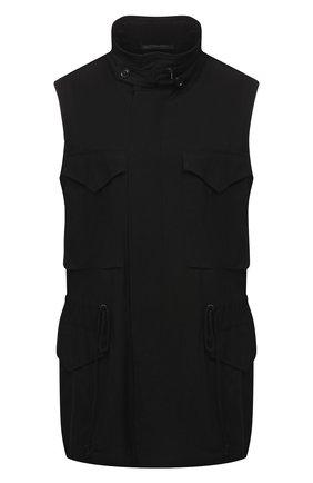 Женский жилет из вискозы Y`S черного цвета, арт. YD-V02-201 | Фото 1
