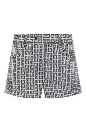 Женские шорты GIVENCHY черно-белого цвета, арт. BW50QN13N0 | Фото 1
