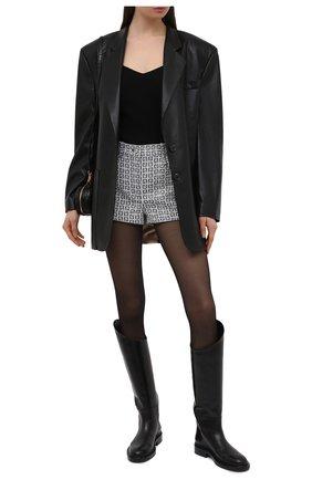 Женские шорты GIVENCHY черно-белого цвета, арт. BW50QN13N0 | Фото 2