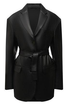 Женский кожаный жакет ACNE STUDIOS черного цвета, арт. A70141 | Фото 1