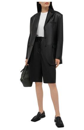 Женский кожаный жакет ACNE STUDIOS черного цвета, арт. A70141 | Фото 2