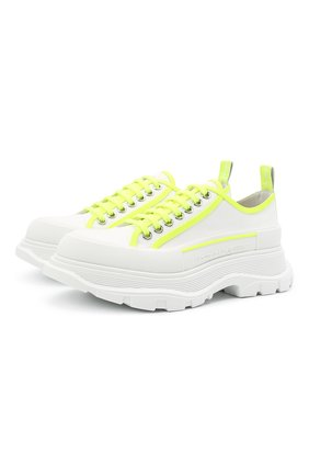 Женская текстильные ботинки ALEXANDER MCQUEEN белого цвета, арт. 657578/W4L3P | Фото 1 (Подошва: Платформа; Материал внешний: Текстиль; Материал внутренний: Натуральная кожа)