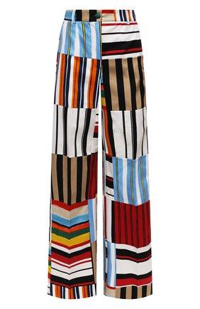 Женские хлопковые брюки DOLCE & GABBANA разноцветного цвета, арт. FTB1RT/GDY77 | Фото 1