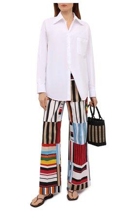 Женские хлопковые брюки DOLCE & GABBANA разноцветного цвета, арт. FTB1RT/GDY77 | Фото 2