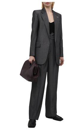 Женский жакет из шерсти и хлопка BARBARA BUI серого цвета, арт. X1218XAB | Фото 2