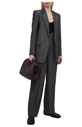 Женские брюки из шерсти и хлопка BARBARA BUI серого цвета, арт. X1620XAB | Фото 2