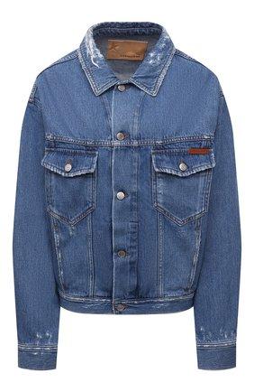 Женская джинсовая куртка GOLDEN GOOSE DELUXE BRAND голубого цвета, арт. GWP00602.P000328 | Фото 1