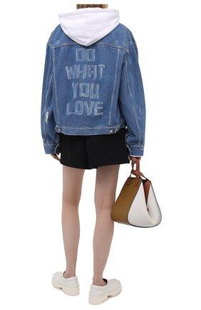 Женская джинсовая куртка GOLDEN GOOSE DELUXE BRAND голубого цвета, арт. GWP00602.P000328 | Фото 2