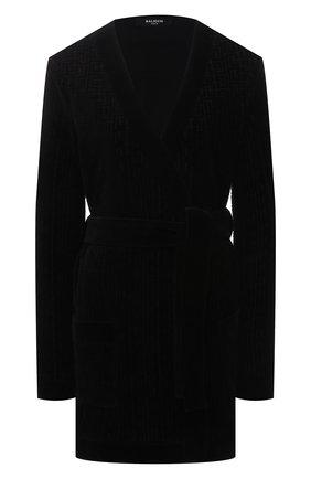 Женский хлопковый кардиган BALMAIN черного цвета, арт. VF2KN010/B090 | Фото 1