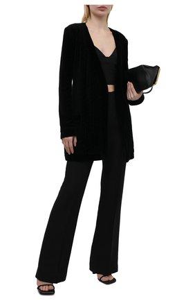 Женский хлопковый кардиган BALMAIN черного цвета, арт. VF2KN010/B090 | Фото 2