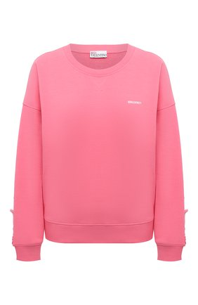 Женский хлопковый свитшот REDVALENTINO светло-розового цвета, арт. VR0MF06R/5VM | Фото 1