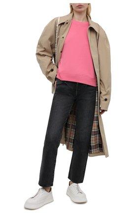 Женский хлопковый свитшот REDVALENTINO светло-розового цвета, арт. VR0MF06R/5VM | Фото 2
