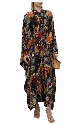 Женское шелковое платье LANVIN разноцветного цвета, арт. RW-DR0009-4900-E21   Фото 2