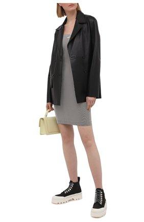 Женское платье OFF-WHITE серого цвета, арт. 0WVT014S21KNI001 | Фото 2