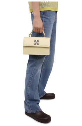 Женская сумка 1.4 jitney OFF-WHITE желтого цвета, арт. 0WNP003S21LEA001 | Фото 2
