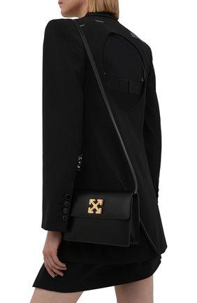Женская сумка 2.0 jitney OFF-WHITE черного цвета, арт. 0WNN014S21LEA002   Фото 2