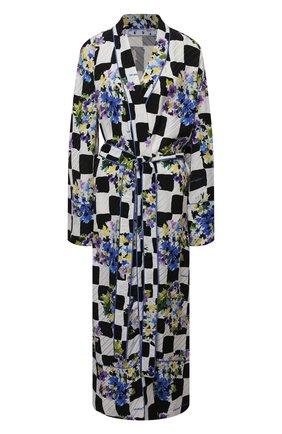 Женское платье с запахом OFF-WHITE разноцветного цвета, арт. 0WGD003S21FAB001 | Фото 1