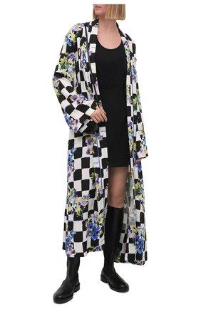 Женское платье с запахом OFF-WHITE разноцветного цвета, арт. 0WGD003S21FAB001 | Фото 2